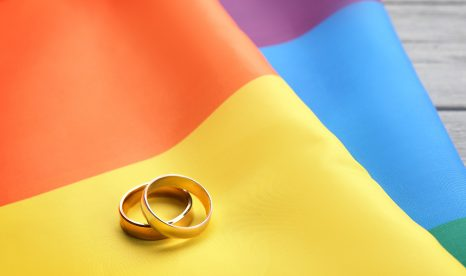 Two-thirds (62%) of American adults favor same-sex marriage.